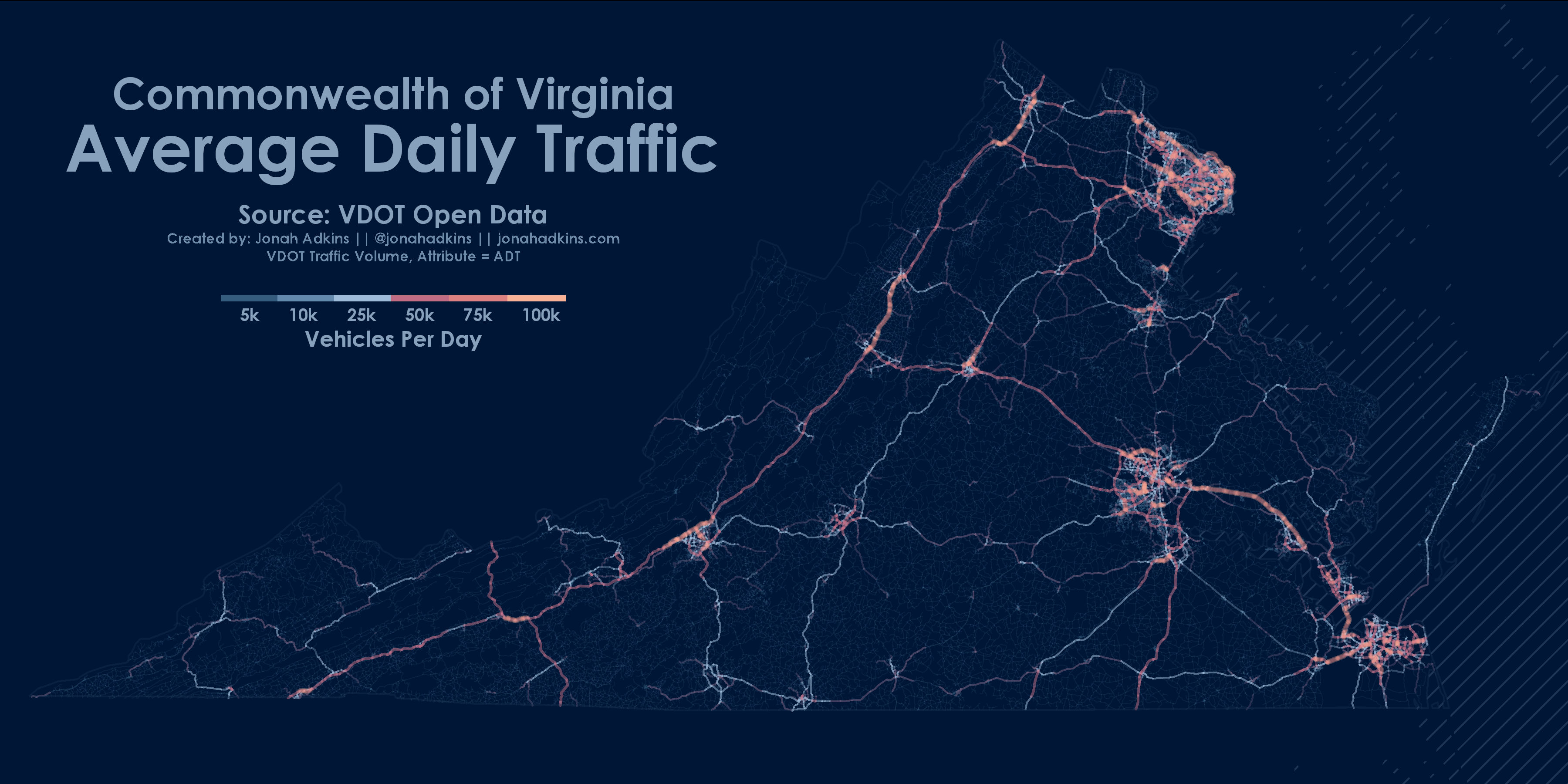 Vdot Traffic Map.The Open Data Roads Of Virginia It All Started With A Map